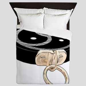 BDSM EMBLEM with Leather Collar Queen Duvet